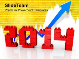 Business Growth 2014 New Year PowerPoint Templates PPT Backgrounds For Slides 1113