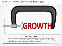 Business Growth Analysis And Techniques Powerpoint Templates