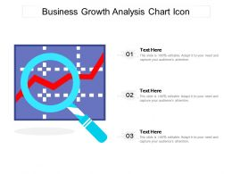 Business Growth Analysis Chart Icon