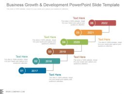 Business Growth And Development Powerpoint Slide Template