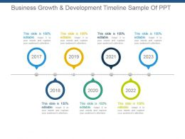 Business Growth And Development Timeline Sample Of Ppt