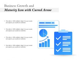 Business Growth And Maturity Icon With Curved Arrow