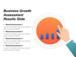 Business Growth Assessment Results Slide Powerpoint Graphics
