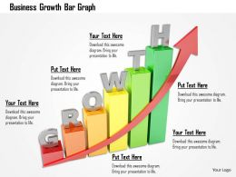 Business Growth Bar Graph Image Graphics For Powerpoint