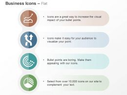 Business Growth Chart Process Arrows Pie Chart Ppt Icons Graphics