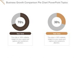 Business Growth Comparison Pie Chart Powerpoint Topics