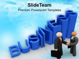 Business Growth Deal Signed Powerpoint Templates Ppt Themes And Graphics 0313