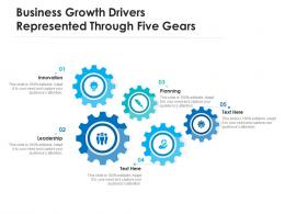 Business Growth Drivers Represented Through Five Gears