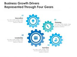 Business Growth Drivers Represented Through Four Gears