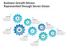 Business Growth Drivers Represented Through Seven Gears