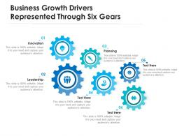 Business Growth Drivers Represented Through Six Gears