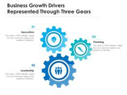 Business Growth Drivers Represented Through Three Gears