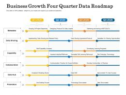 Business Growth Four Quarter Data Roadmap