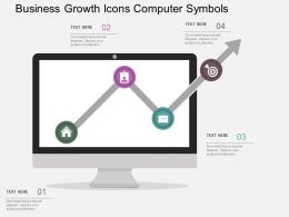 Business Growth Icons Computer Symbols Flat Powerpoint Design