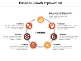 Business Growth Improvement Ppt Powerpoint Presentation Styles Templates Cpb