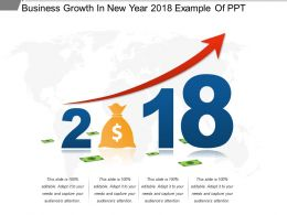 Business Growth In New Year 2018 Example Of Ppt