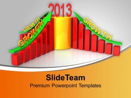 Business Growth In New Year PowerPoint Templates PPT Themes And Graphics