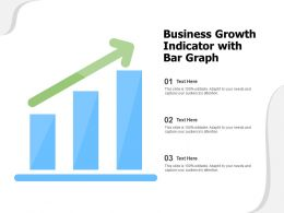 Business Growth Indicator With Bar Graph