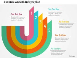 Business Growth Infographics Flat Powerpoint Design