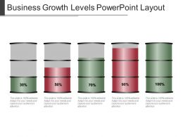 Business Growth Levels Powerpoint Layout
