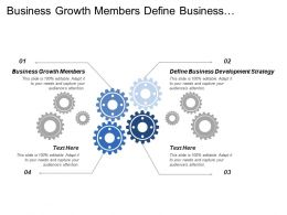 Business Growth Members Define Business Development Strategy