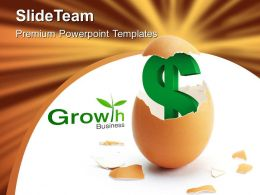 Business Growth Money Powerpoint Template 0510