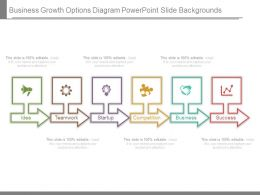 Business Growth Options Diagram Powerpoint Slide Backgrounds