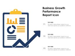 Business Growth Performance Report Icon