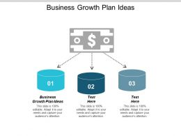 Business Growth Plan Ideas Ppt Powerpoint Presentation Gallery Slide Download Cpb