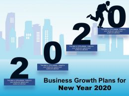 Business Growth Plans For New Year 2020 Ppt Smartart