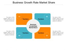 Business Growth Rate Market Share Ppt Powerpoint Presentation Examples Cpb