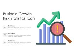 Business Growth Risk Statistics Icon