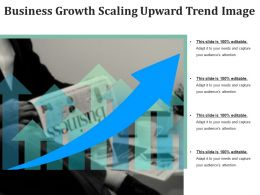 Business Growth Scaling Upward Trend Image