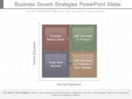 Business Growth Strategies Powerpoint Slides