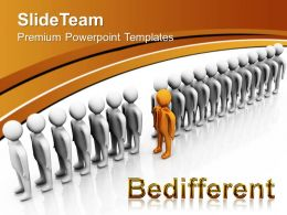 Business Growth Strategy Be Different Leadership Process Ppt Presentation Designs Powerpoint