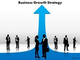 business growth strategy silhouettes standing on arrows powerpoint diagram templates graphics 712