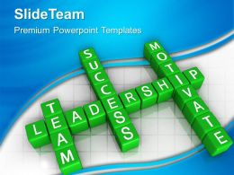 Business Growth Strategy Templates Blocks Team Motivate Leadership Graphic Ppt Theme Powerpoint