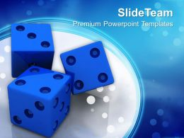 Business Growth Strategy Templates Blue Dices Finance Success Ppt Slide Designs Powerpoint