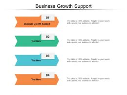 Business Growth Support Ppt Powerpoint Presentation File Templates Cpb