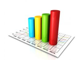 Business Growth With Bar Graph And Chart Stock Photo