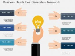 Business Hands Idea Generation Teamwork Flat Powerpoint Design