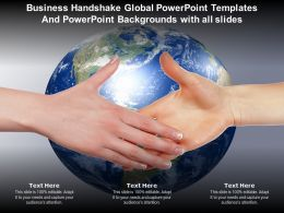 Business Handshake Global Powerpoint Templates And With All Slides Ppt Powerpoint