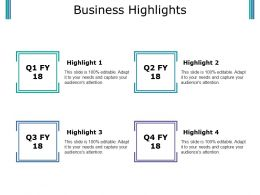 Business Highlights Presentation Portfolio