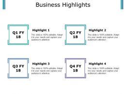 Business Highlights Presentation Portfolio