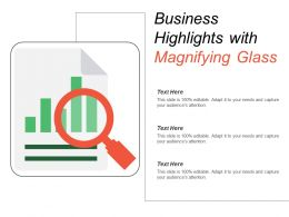 Business Highlights With Magnifying Glass