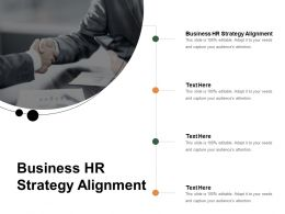 Business HR Strategy Alignment Ppt Powerpoint Presentation Ideas Template Cpb