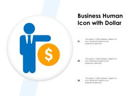 Business Human Icon With Dollar