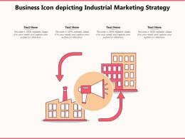 Business Icon Depicting Industrial Marketing Strategy