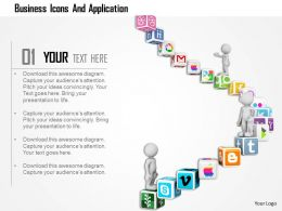 Business Icons And Application Ppt Graphics Icons