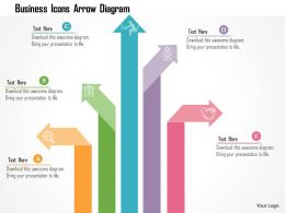 Business Icons Arrow Diagram Flat Powerpoint Design